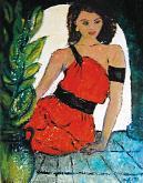 Donna spagnola - mario fanconi - Olio