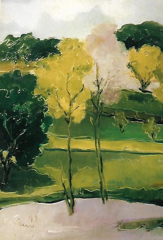 Alberi in primavera - mario fanconi - Olio -  €