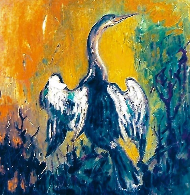 Cormorano - mario fanconi - Olio