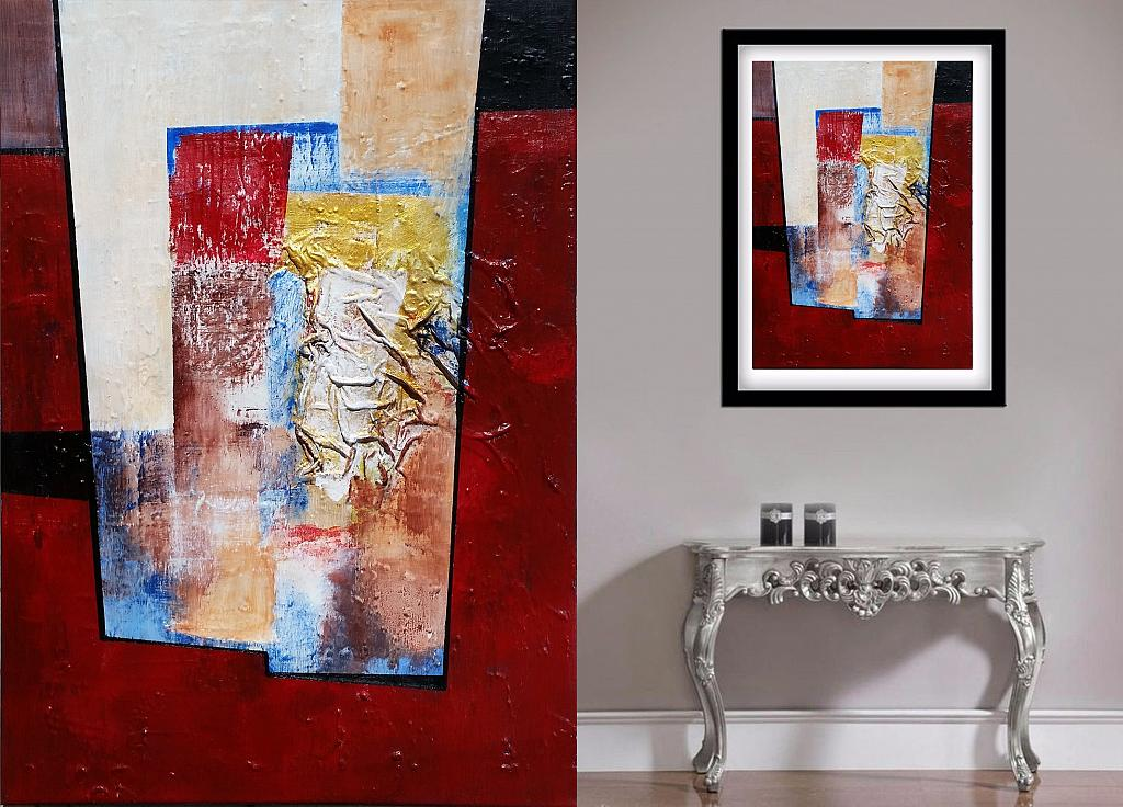 Abstract vision on  red - aliz polgar - mista - 150 €