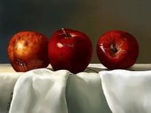 Mele su telo bianco - Michele De Flaviis - Digital Art