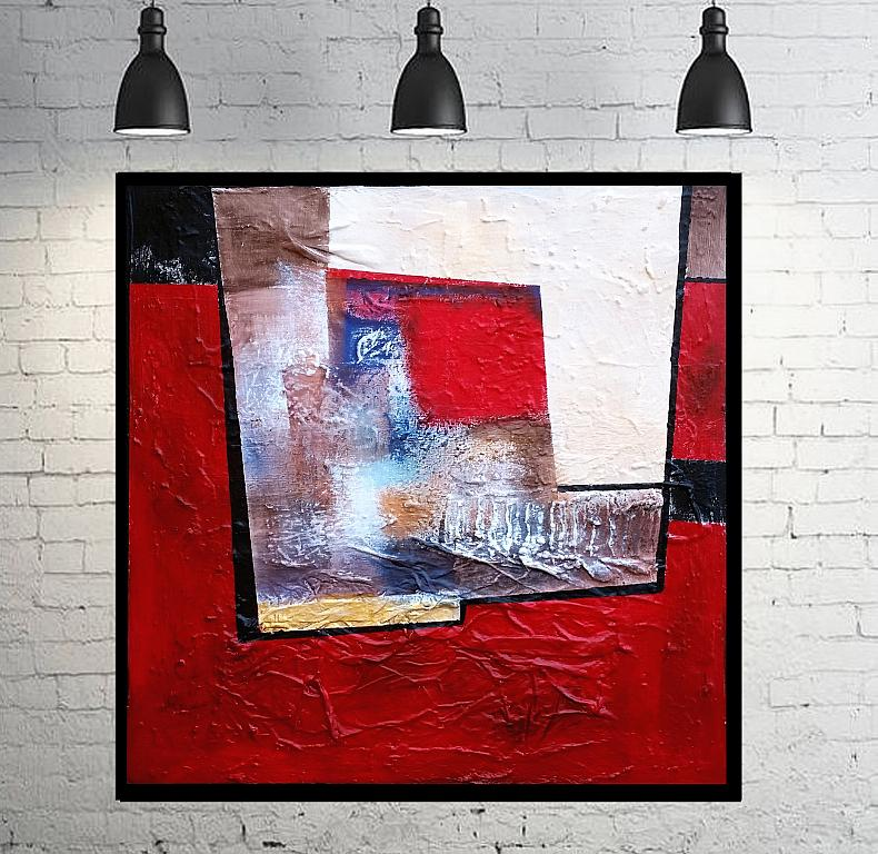 Abstract vision on  red - aliz polgar - mista - 190 €