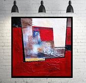 Abstract vision on  red - aliz polgar - mista - 190€