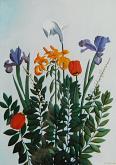 Fiori con tulipani - Gabriella Poggi - Olio