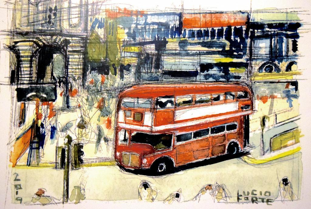 Routemaster - Lucio Forte - Acquerello - 79 €
