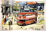 Routemaster - Lucio Forte - Watercolor - 79 euro
