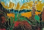 Paesaggio imaginario - mario fanconi - Olio