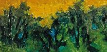 bosco al crepuscolo - mario fanconi - Olio