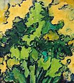 arbusto - mario fanconi - Olio