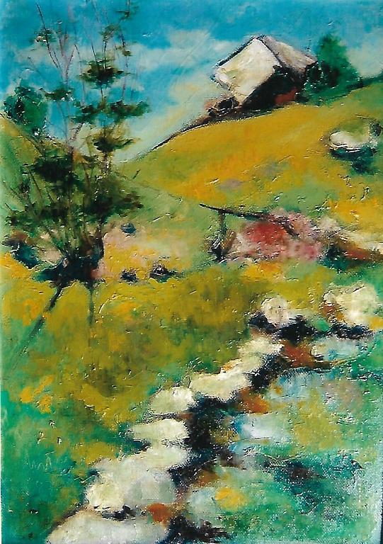 valle di blenio - mario fanconi - Olio