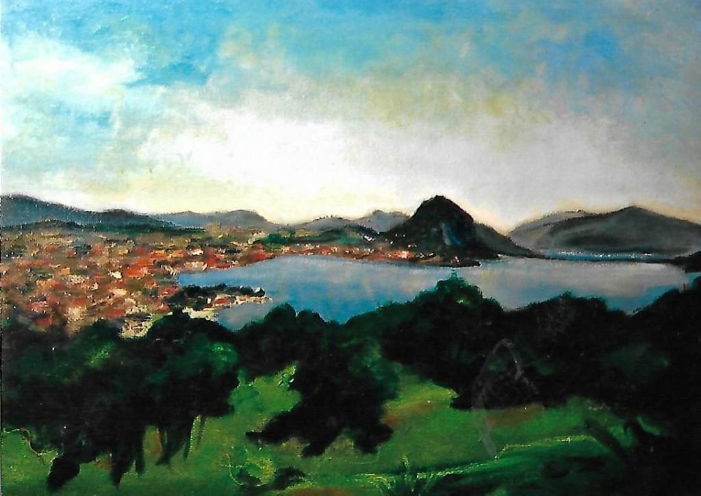 golfo di Lugano - mario fanconi - Olio