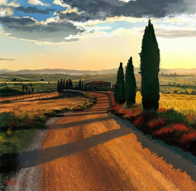 Paesaggio toscano 2019 - Michele De Flaviis - Digital Art - 100 €