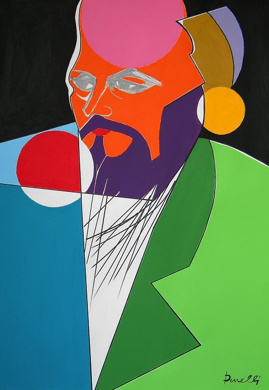 Ritratto di Fedor Michajlovic Dostoevskij - Gabriele Donelli - Matita e acrilico - 400 €