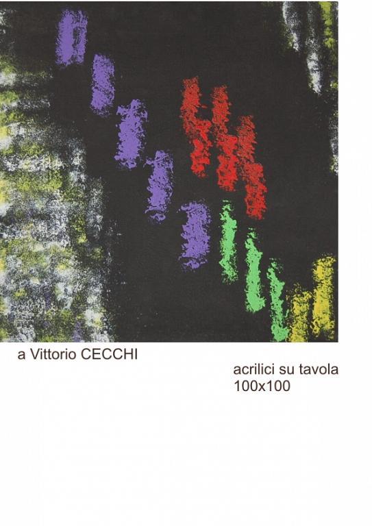 a Vittorio Cecchi Artista del vetro - FAUSTO MARIA FONTANA - Acrilico - 2500 €