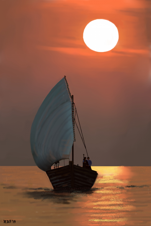 Innamorati al tramonto - Michele De Flaviis - Digital Art - 100 €