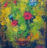 fiori  - mario fanconi - Olio