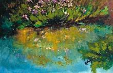 fiori allo specchio - mario fanconi - Olio