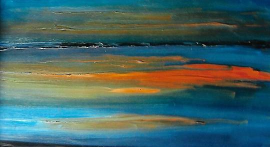 tramonto da sogno - mario fanconi - Olio
