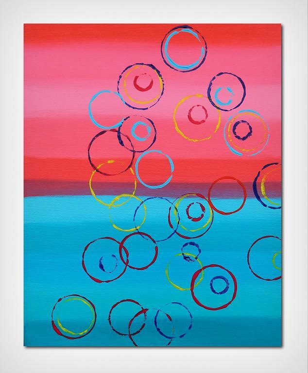 Circles, 40x50 cm - Davide De Palma - Acrilico - 120 €