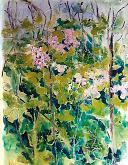fiori in un prato - mario fanconi - Olio