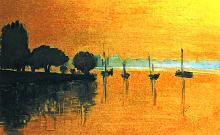 atmosfera all'alba  - mario fanconi - Olio