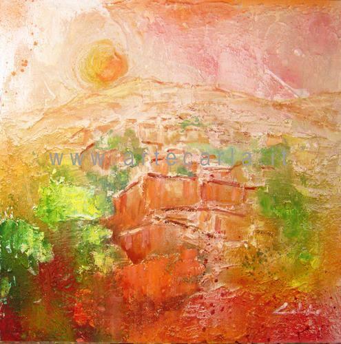 C'è sempre la speranza  - Carla Colombo - olio + sabbia  -  €