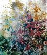 visione trai fiori - mario fanconi - Olio