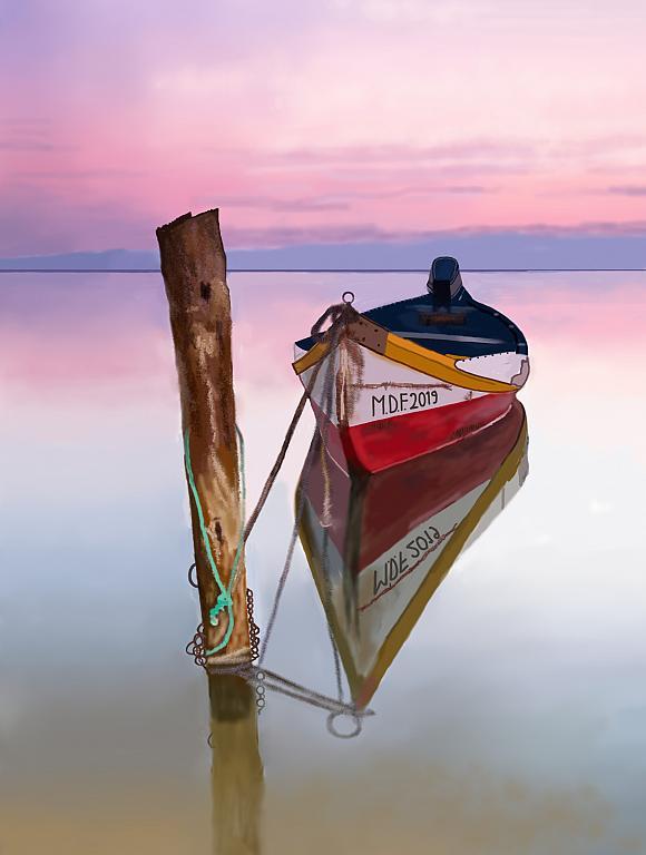 Il palo e la barca - Michele De Flaviis - Digital Art