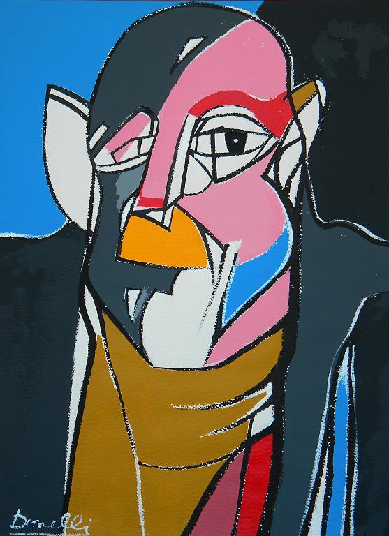 Ritratto di Jean Dubuffet - Gabriele Donelli - Acrilico - 800 €