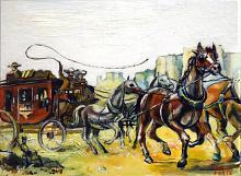 Wild West Stagecoach - Lucio Forte - Olio - 99€