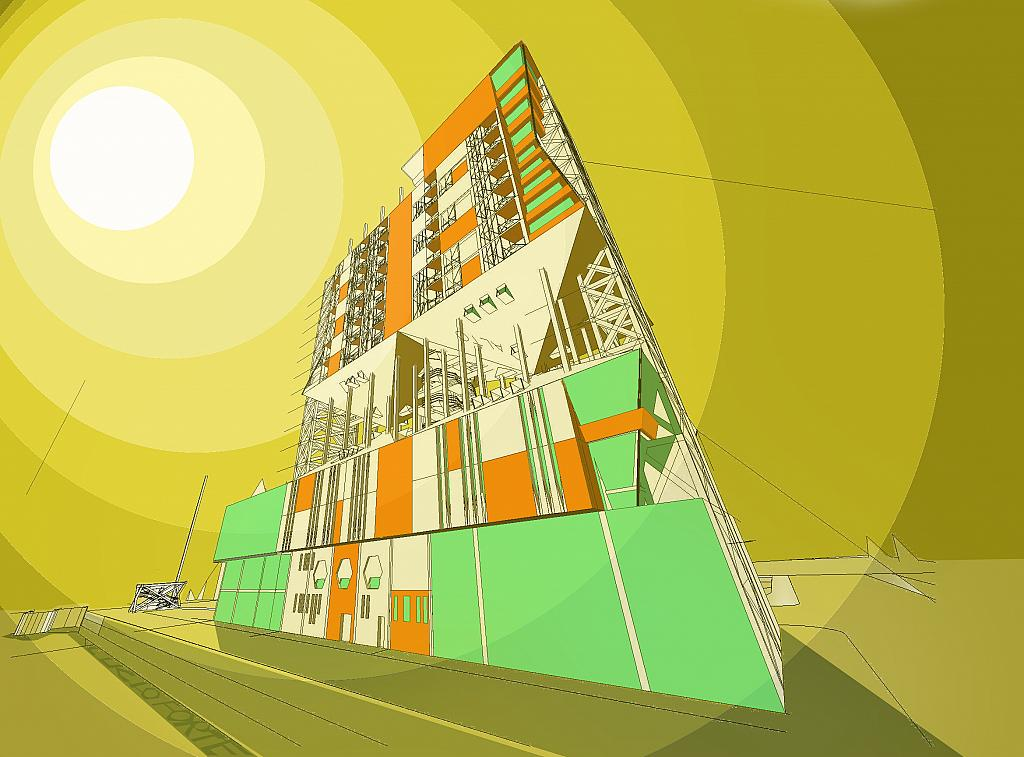 Futuristic Building - Lucio Forte - Digital Art - 89 €