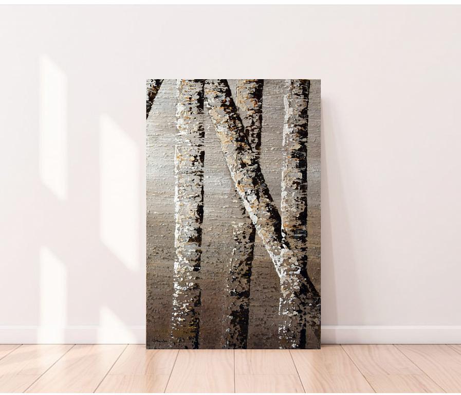 BIRCH TREE REFLECTION 8B - Daniela Pasqualini - Acrilico