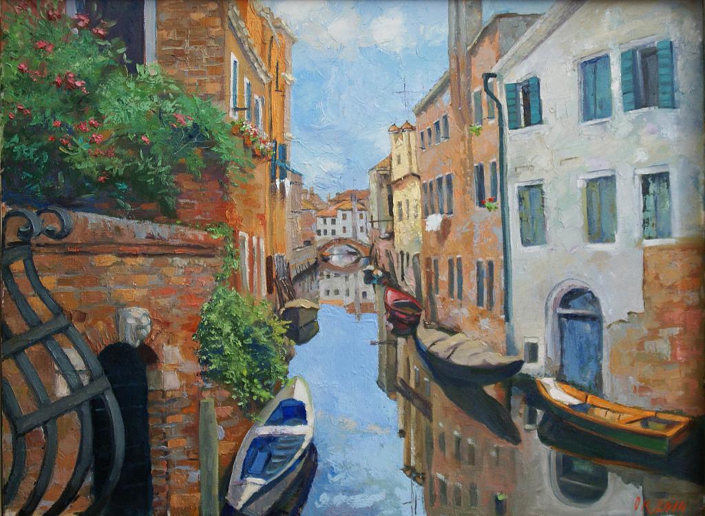 Canale Veneziano - Olga Kozhanova - Olio - 350 €