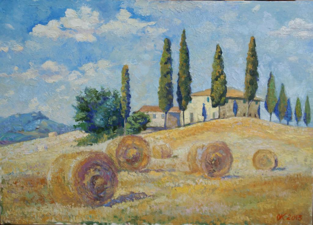 Agosto in Toscana - Olga Kozhanova - Olio - 250 €