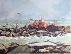 Oggi il mare mosso - Olga Kozhanova - Olio - 250€