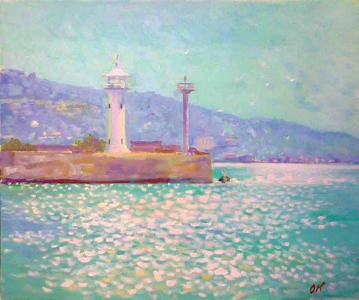 Faro sul mare nero - Olga Kozhanova - Olio - 250 €