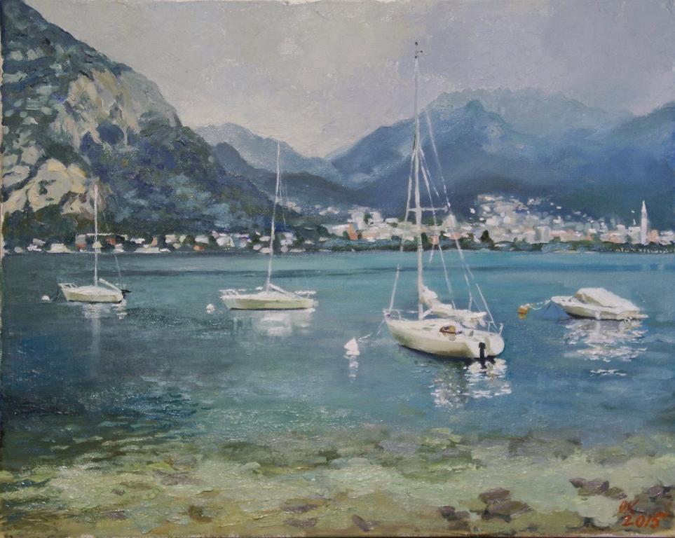 Valmadrera Lago di Lecco - Olga Kozhanova - Olio -  €