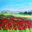 Un mare di papaveri rossi  - Carla Colombo - Olio -  €