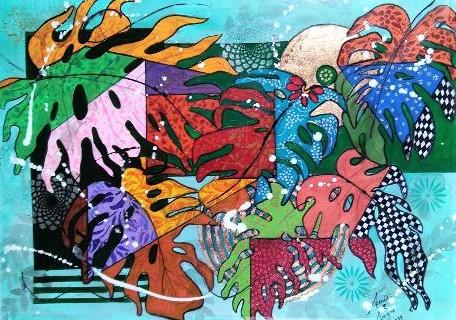 Giardino tropicale - anna casu - Acrilico