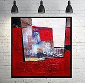 Abstract vision on  red - aliz polgar - mista - 160€