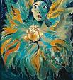 rose gialle gelosia - mario fanconi - Olio