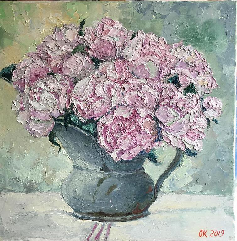 Peonie - Olga Kozhanova - Olio - 200 €