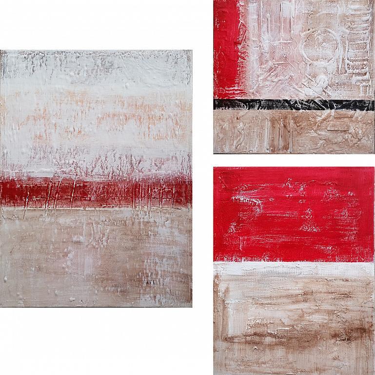 Differente trittico - aliz polgar - mista - 220 €