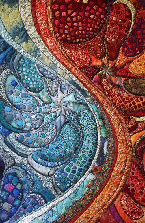 FIRE AND WATER VIBRANCE - Verena Giavelli - ARTE TESSILE