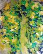 nudo nel verde - mario fanconi - Olio
