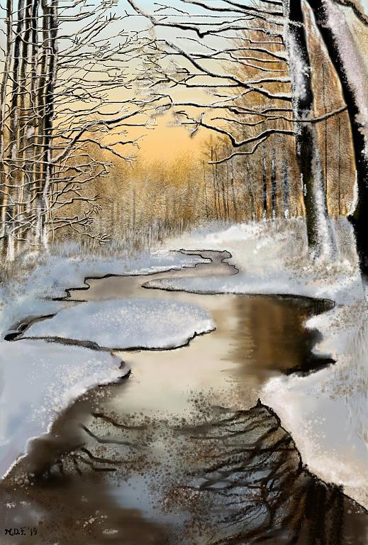La prima neve - Michele De Flaviis - Digital Art