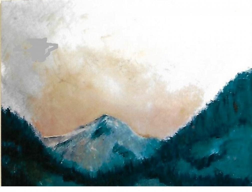 atmosfera alpina - mario fanconi - Olio