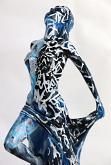 Venere in blu versione 2 - marco stazzini - pittura a mano su scultura in resina - 330€