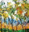 alberi multicolori - mario fanconi - Olio