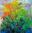 colori paradisiaci sulla terra - mario fanconi - Olio